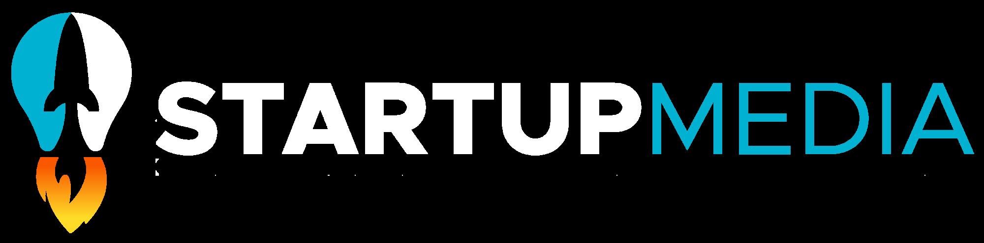 StartupMedia transparent, white, uden logo